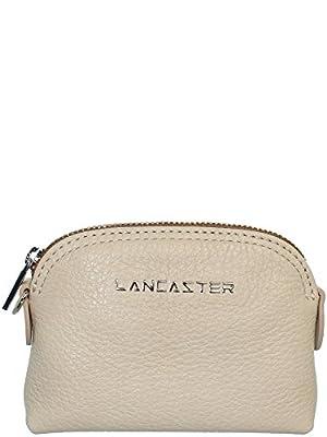 Lancaster - Porte-monnaie Lancaster en cuir ref_lan41897 Beige 11*8*3