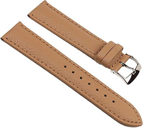 Eulit Fancy Classic Ersatzband Uhrenarmband Rindsleder Band Caramel 25462S, Stegbreite:20mm