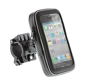 Kit Water-Resistant Bicycle and Motorbike Case for Small Smartphones including iPhone 4/4S - Black
