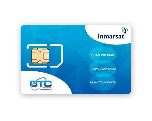 Inmarsat BGAN SIM prepago Sin tiempo uso incluido