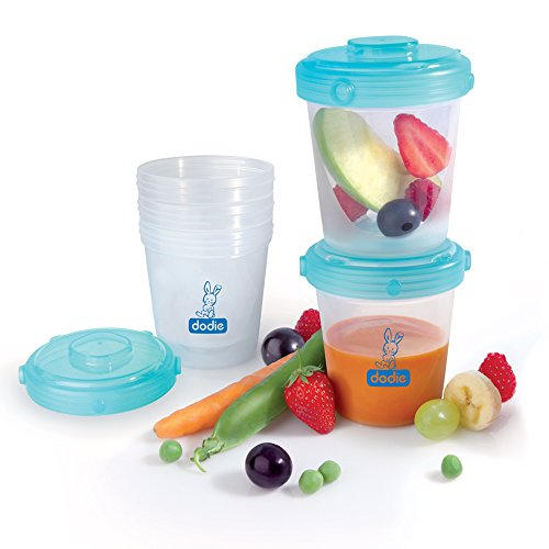 Dodie-Set di 6 Vasetti per la conservazione di alimenti, ermetica, 200 ml