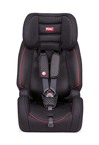 Piku GLOBE ISOFIX Sillas de coche con Isofix grupo 1 2 3 (9 36 Kg 1 12 años) color negro y rojo