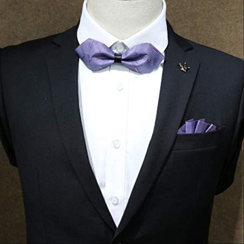 CEKINF Neue Männer Männlich Frau Kleid Kopfbedeckung Anzug Krawatte Tasche Handtuch Set Bräutigam Hochzeitsgeschenk Box Taschentuch Handtuch Tasche Mail6