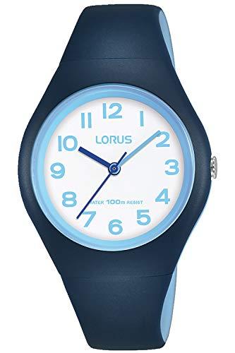 Lorus Kids Montre Mixte Analogique Quartz avec Bracelet Silicone RRX05GX9