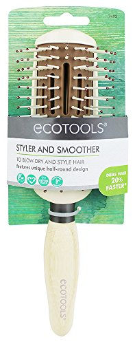 EcoTools Styler + Smoother Hair Brush - Ultra Comfort, Lightweight Design