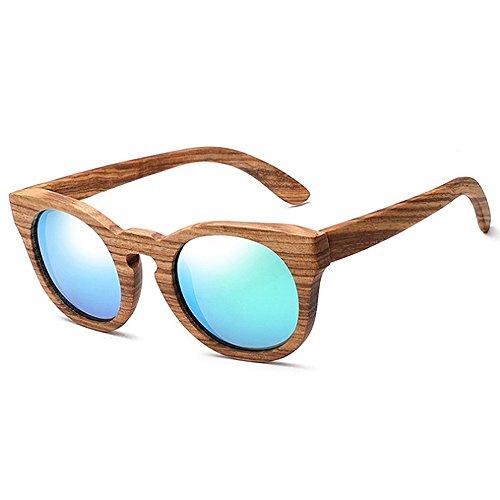 Herren Polarisierte Sonnenbrille Klassische hölzerne polarisierte Sonnenbrille für Frauen Männer Katze Augen Rahmen Sonnenbrille Unisex Sonnenbrille UV Schutz Sonnenbrille Fahren Sonnenbrille Strand S