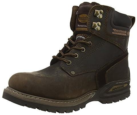 Dockers by Gerli 27YN006-402320, Herren Combat Boots, Braun (cafe 320), 42 EU