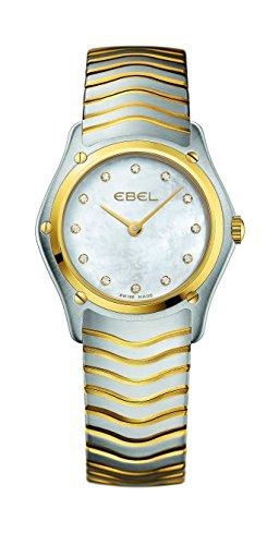 EBEL Damen-Armbanduhr EBEL CLASSIC LADY Analog Quarz Gelbgold 1215371 - Ebel Uhren Diamanten Damen