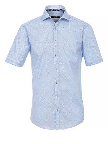 Venti Messieurs Chemise d'affaires Également disponible en grandes tailles 100 % coton bleu clair