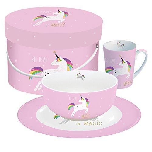 Breakfast Set Pink Unicorn / Einhorn / Deko / Geschenkset / Frühstücksset