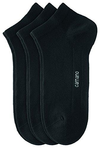 Camano Unisex - Erwachsene Sneakersöckchen 9-er Pack, 3003 - schwarz - 47-49