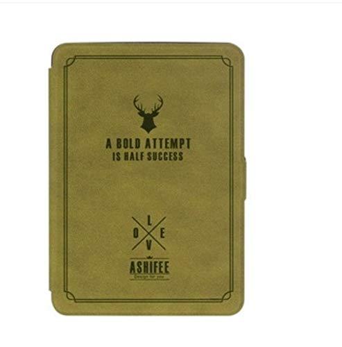 DATOUDATOU Slim für Amazon Kindle Paperwhite 1 2 3 Fall gedruckten PU-Leder für Kindle Paperwhite 123 Ebook Abdeckung gelb (Gelb Kindle Abdeckung)