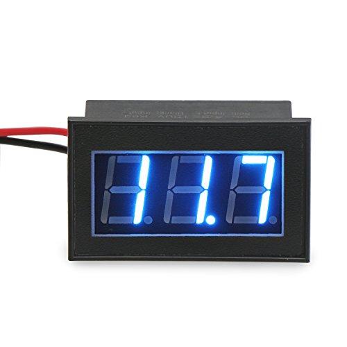 """Preisvergleich Produktbild DROK® Wasserdicht DC 4.5-150V Digital Voltmeter, 0,56 """" Blau LED-Panel-Display Spannungsprüfer , Volt mit Verpolungsschutz-Monitor, 2 Draht Geeignet für Auto / electrombile / Storage Battery Auto / Motorrad"""