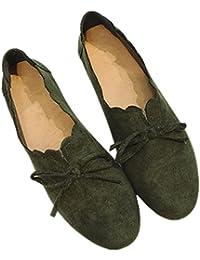 2017 verano nueva zapatos planos redondo retro cabeza salvaje arco zapatos casuales , green , 7.5