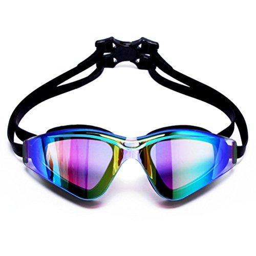 GTUKO-Sports Männer Und Frauen Des Nebels Hd Große Kastenschwimmenschutzbrillen Erwachsene Myopie Wasserdicht Und Nebelig, Schwarz
