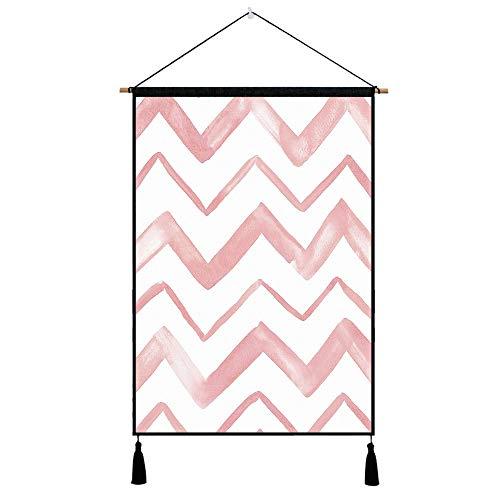 lsaiyy Pink Series Tapisserie Hängende Tapisserie Dekorative Stoffmalerei Nachttischdekoration Hängende Stoff 3 45x65cm