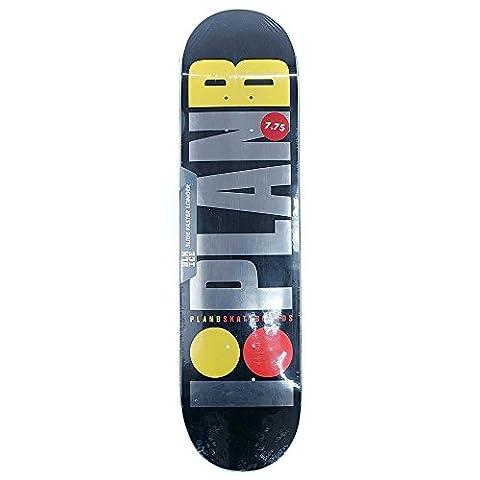 Plan B Skateboards Team OG Black Ice Skateboard Deck schwarz 19,7cm