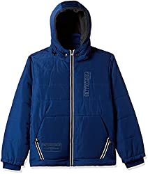 Fort Collins Boys Regular Fit Synthetic Jacket (14617_Royal Blue_36 (15 - 16 years))