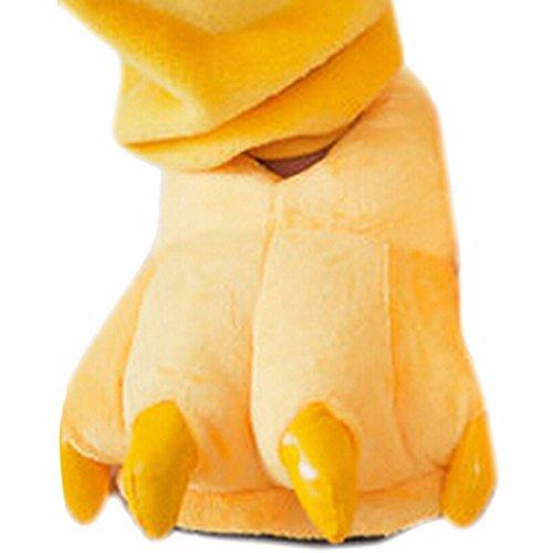 QIYUN.Z Kind Kinder Weichem Samt Tieres Klaue Pfote Herbst/Winter Warm Verdicken Slipper Schuhe Gelb