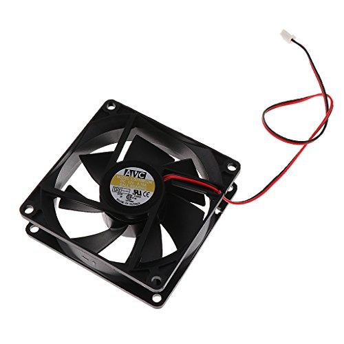 Sharplace Kühlerlüfter 12V DC 0.32A Lärmarm CPU-Lüfter für PC, Laptop 2-Pol. 80mm Rahmen Kühlventilator Cpu-pc-laptops