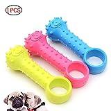 YaptheS Haustier-Welpen-Gummi Dental Zähne Kauknochen Spielen Bildung Spaß-Spielzeug Pet Supplies Fetch täglichen Bedarfs Geschenk für Hunde für Hunde und Katzen (Farb Random)