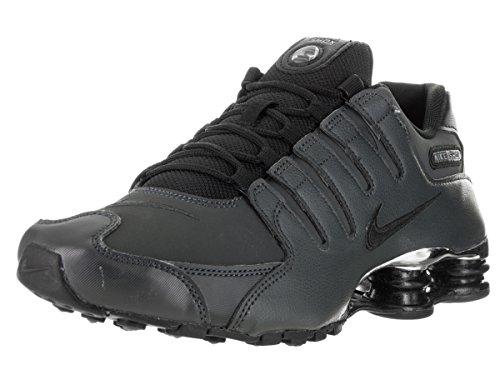 Nike Mens Shox NZ Premium Leather Trainers Noir