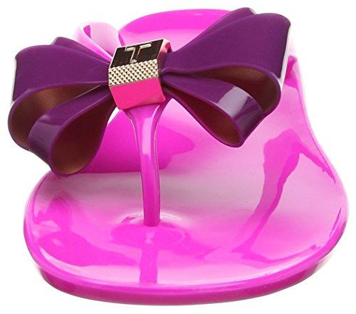Ted Baker Damen Rafeek Flip Flops, Schwarz Mehrfarbig (Pink/dark Purple)
