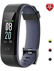 Willful Orologio Fitness Tracker Uomo Donna Smartwatch Android iOS Cardiofrequenzimetro da Polso Smart Watch Contapassi Smartband Impermeabile IP68 Activity Tracker per iPhone Xiaomi Samsung Huawei