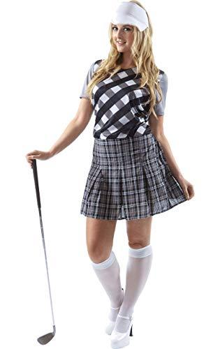 Erwachsene Damen Frauen Golfspieler Golf Huhn Kostüm hut Karneval Large