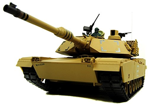 Pro Version Rc 1/16 M1A2 Abrams Rc Bb Tank with Smoke and Sound - 2.4Ghz - Metal Upgraded Pro Version (Rc Bb-tank)