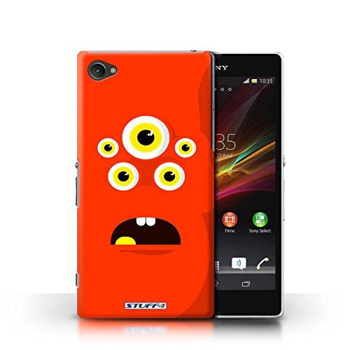 Kobalt® Imprimé Etui / Coque pour Sony Xperia Z1 Compact / Vert conception / Série Monstres Rouge