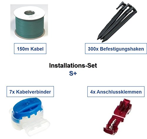 genisys Installations-Set S+ Yardforce Kabel Haken Verbinder Installation Paket Set Kit
