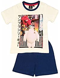 Disney Big Hero 6 Enfants Manche Courte Set Pyjama Blanc