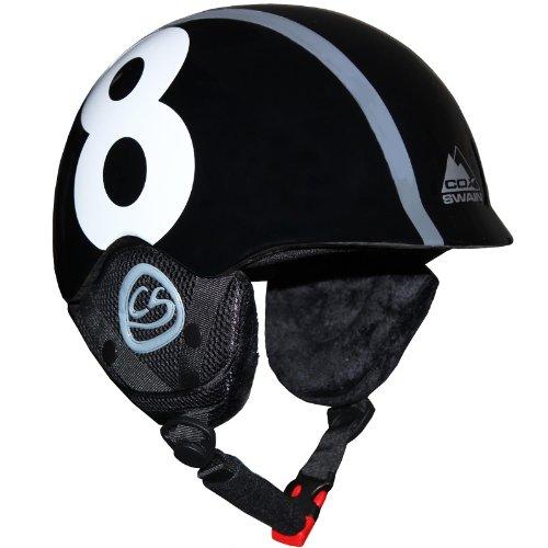 Cox Swain Kinder Ski-/Snowboard Helm TUKINO - Größenverstellbar mit Trackrad, Colour: Black, Size:...
