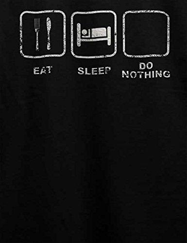 Eat Sleep Do Nothing Vintage T-Shirt Schwarz