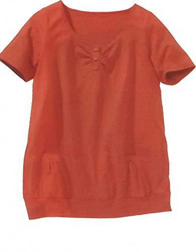 adonia mode Freche Tunika Shirt Babydoll Täschchen , Gr.44/46 Orange