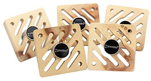 Zirbelino Original Désodorisant pour Voiture avec Support magnétique Rotatif + jeton de Courses