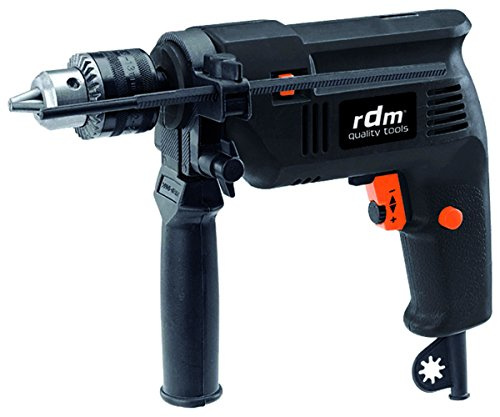 Taladro percutor profesional RDM Quality Tools 70000, 500W, giro reversible, velocidad variable, botón...