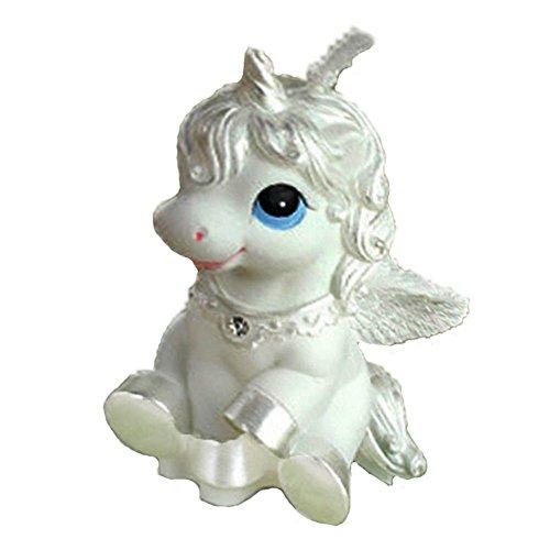 Unicornio figura vela de cera para niña tarta de cumpleaños Decoración-Memoria Vela de 2,7pulgadas 2piezas UNIDADES