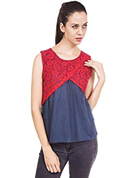 9teenagain señoras Camisa sin mangas de la túnica del cordón de Kurti informal - Tamaño disponible