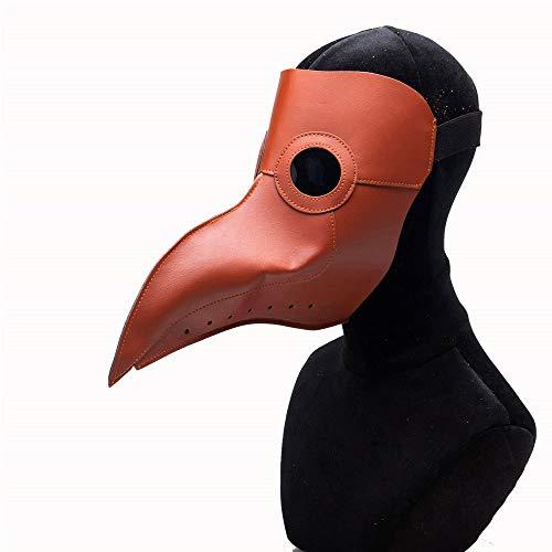 Pferd Kostüm Arzt - TIKENBST Halloween Maske Schnabel Maske Cosplay Pest Arzt Maske Cosplay Party Halloween Kostüm Party Requisiten,D