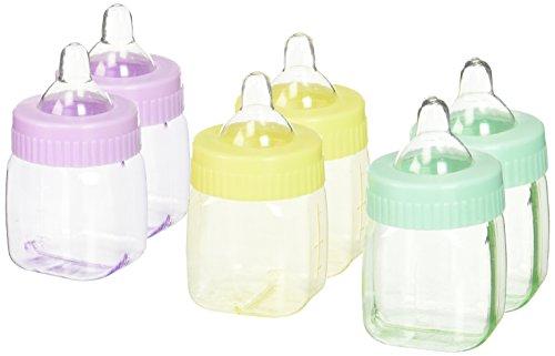 amscan Babyflaschen, als Partygeschenk, selbstbefüllbar, Mehrfarbig