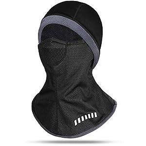 INBIKE Pasamontañas Balaclava Braga Mascara CascoTermico Negro para Moto EsquíCiclismo Bicicleta, Hombre Y Mujer