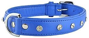 Avon Pet Products Diamanté Rhinestone Soft Leather Dog Collar
