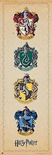 Grupo Erik Editores   Poster Puerta Harry Potter House Crests