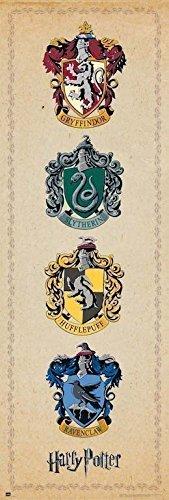 Grupo Erik Editores   Poster Puerta Harry Potter House Crests