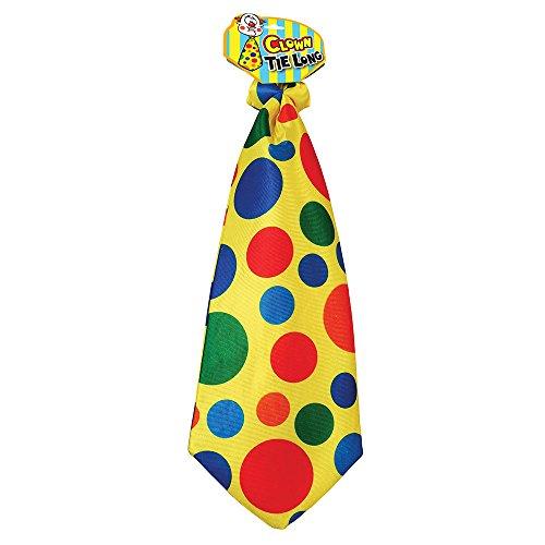 Bristol Novelty BA817 Clown Lange Krawatte, Unisex- Erwachsene, mehrfarbig, Einheitsgröße (Harlekin Kostüm Männlich)