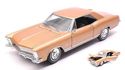 BUICK RIVIERA GRAN SPORT 1965 GOLD 1:24-27 - Welly - Auto Stradali - Die Cast - Modellino