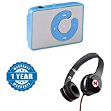 #10: Captcha Mini Mp3 Player C-Design Button With TF Card Support With Mega Bass Sound Headphone (One Year Warranty)