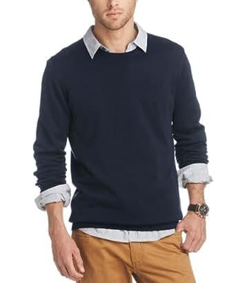 ESPRIT Herren Pullover Regular Fit 993EE2I900, Gr. 46 (S), Blau (406 cinder blue)